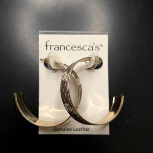 Francescas Snakeprint Hoop Earrings.